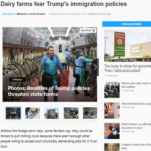 Farmers Fear Trump